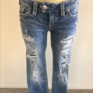Silver Jeans Jeans - Silver Jeans Tuesday Flap Straight sz 27/32!
